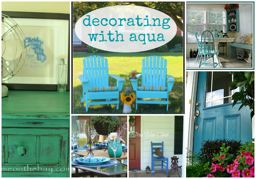 decorate with aqua