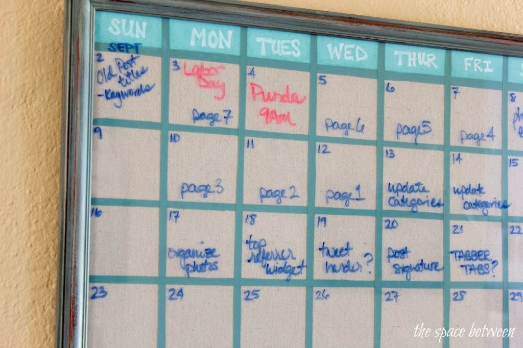 Diy School Calendar : Upcycled picture frame turned diy wall calendar