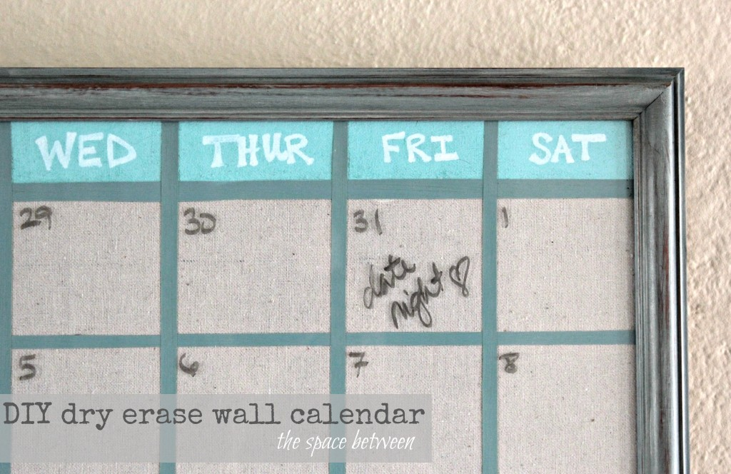 Framed Wall Calendar upcycled picture frame turned diy wall calendar